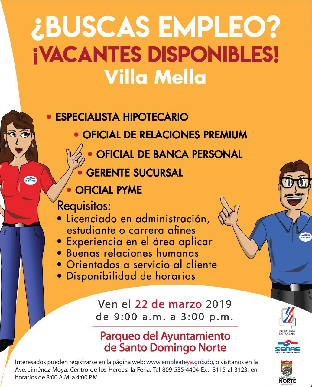 Feria de empleo 22 de marzo 2019