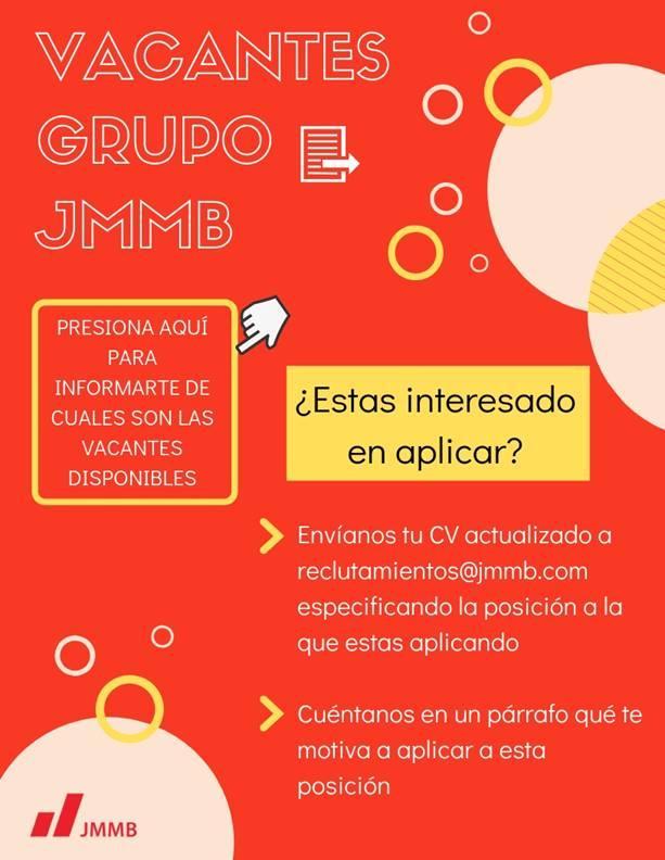 JMMB tiene vacante empleos disponible