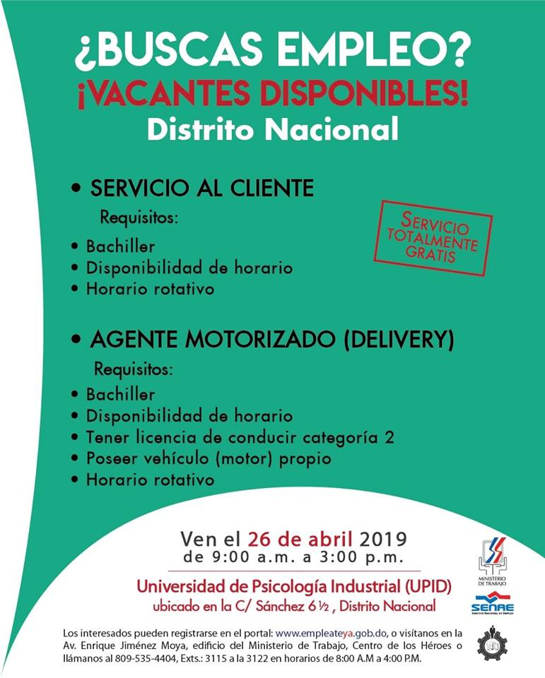 Requisitos Feria de Empleo en Santo Domingo Distrito Nacional