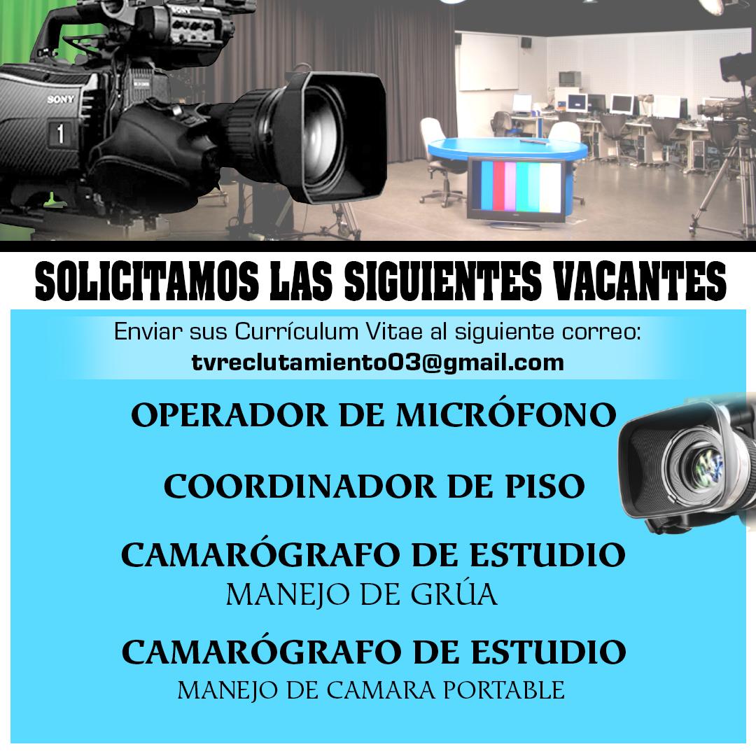 en televisión rd tenemos 4 vacantes disponible para ti